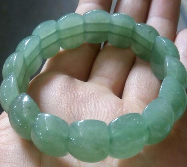 Natural Indian Green Tombs Jade Bracelet Bracelet for Men and Women Couples Light Green Women's Hand Crystal Strings