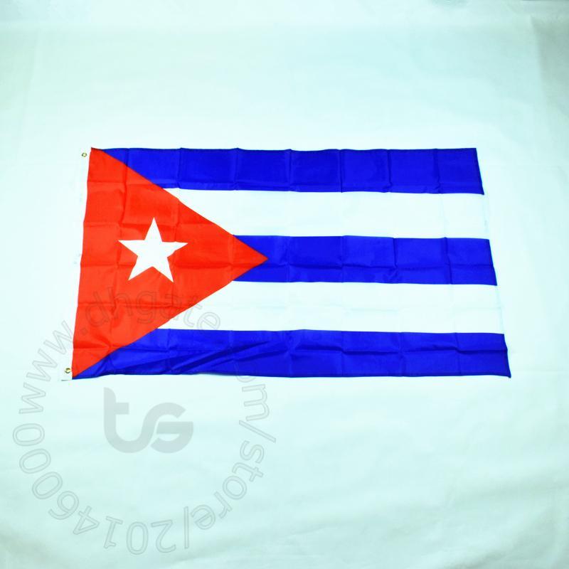 كوبا العلم راية الشحن مجانا 90 * 150CM معلق العلم الوطني كوبا الديكور المنزلي العلم راية