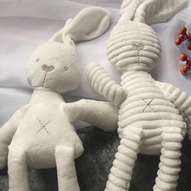 Uyku peluş bebek emzik bebek tavşan uyku bebek bebeğin ısırmasına uzun bacaklı bebek yumuşak bebek hediye ucuz oyuncaklar çocuk Günü