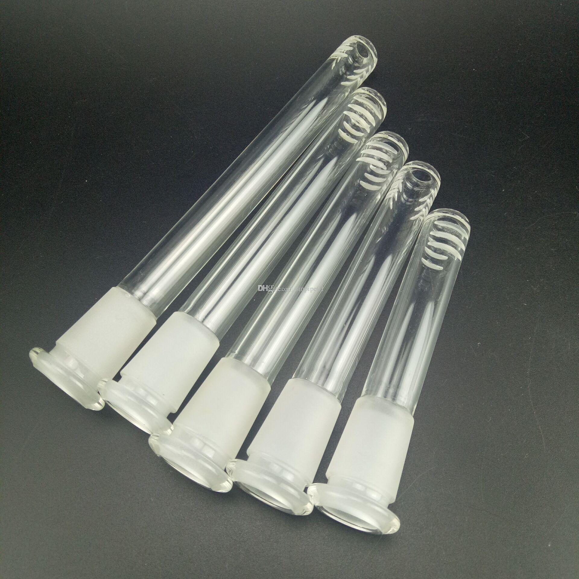 Gli accessori in vetro bong Cinque lunghezze sono opzionali e semplici. Gli accessori del tubo di acqua di vetro sono adatti per l'impianto di perforazione del tubo di vetro del narghilé