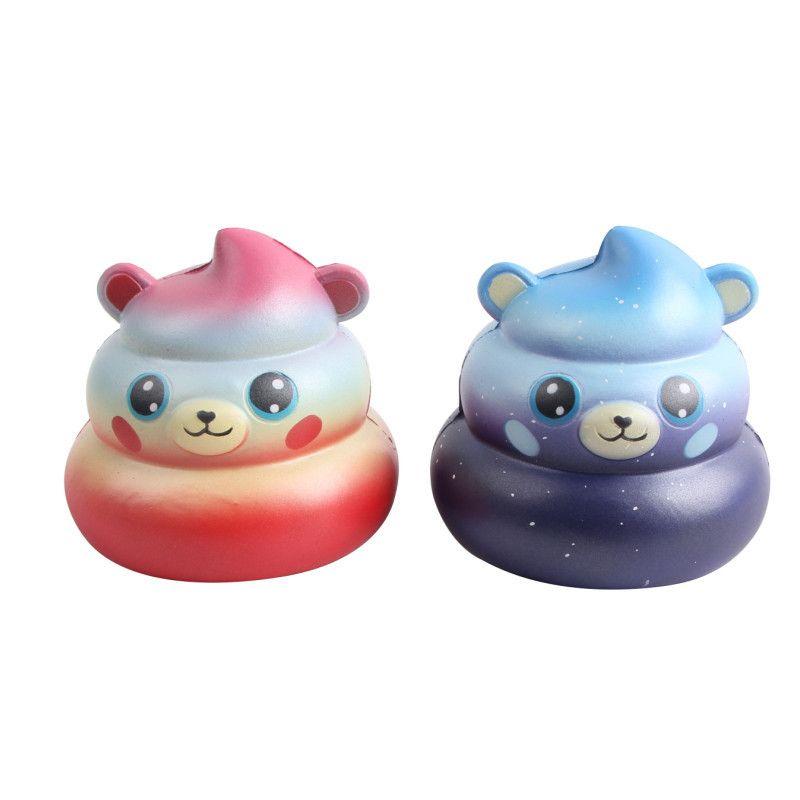 Sgabello merda orso squishy carino 10 cm jumbo lento aumento cinghie del telefono ciondolo fumetto profumato pane bambini giocattolo divertente regalo c4574
