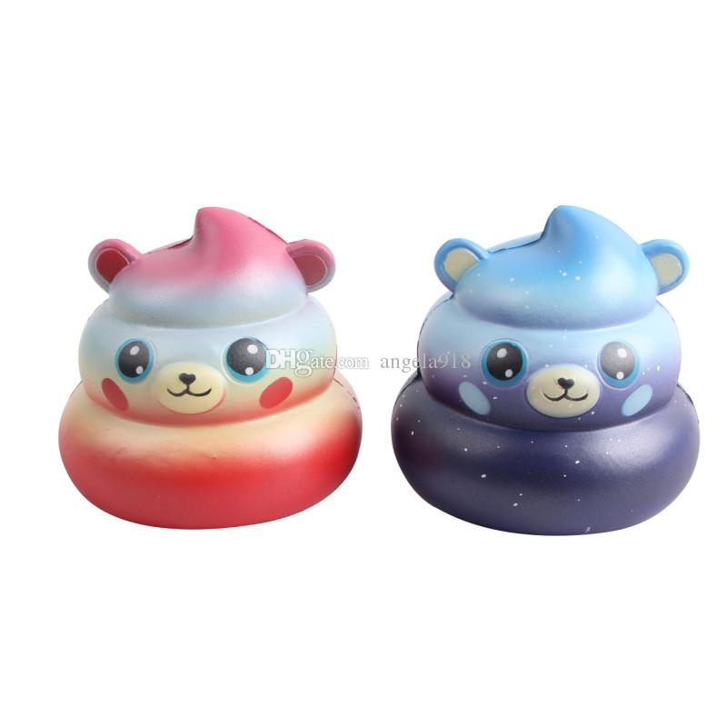 Stool Shit Bear Squishy Cute 10cm Jumbo Slow Rising Phone Straps Cartoon Pendant Scented Bread Kids Fun Toy Gift C4574
