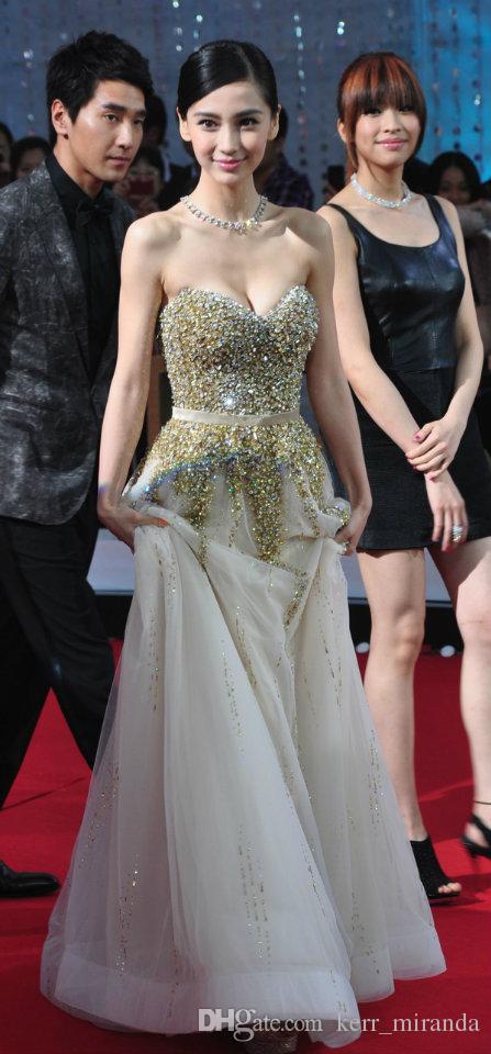 Nowa gwiazda z balami Prom Dresses Golden Champagne Cekinowy Diament Top Długi Party Tuxedo Plus Size Prom Evening Dresses DH034