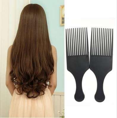 مشط تصفيف الشعر الأفرو مشط فرشاة تصفيف الشعر التصميم طويل الأسنان بيك F1102