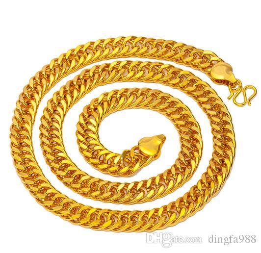Мужские модели взрыва 14k золото хлыст боком плоский широкий ожерелье