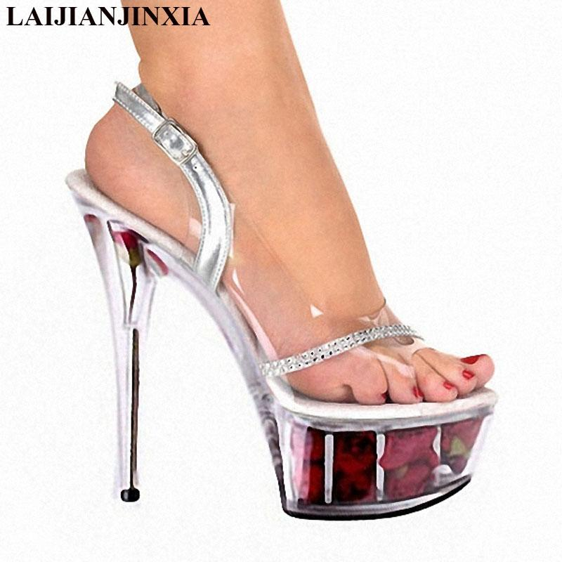 wholesale New Red Bride Wedding Shoes Noble Party Dresses Fish Mouth Shoes 15 cm High Heels Platform Nightclub Women sandals