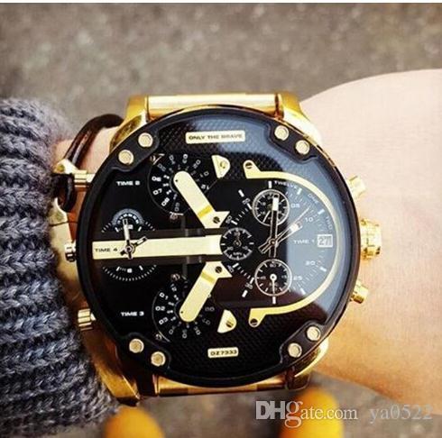 Nuova marca uomini degli uomini DZ7315 DZ7312 orologi moda uomini casuali orologio al quarzo in acciaio inox cinturino montre homme relogio masculino orologio da polso