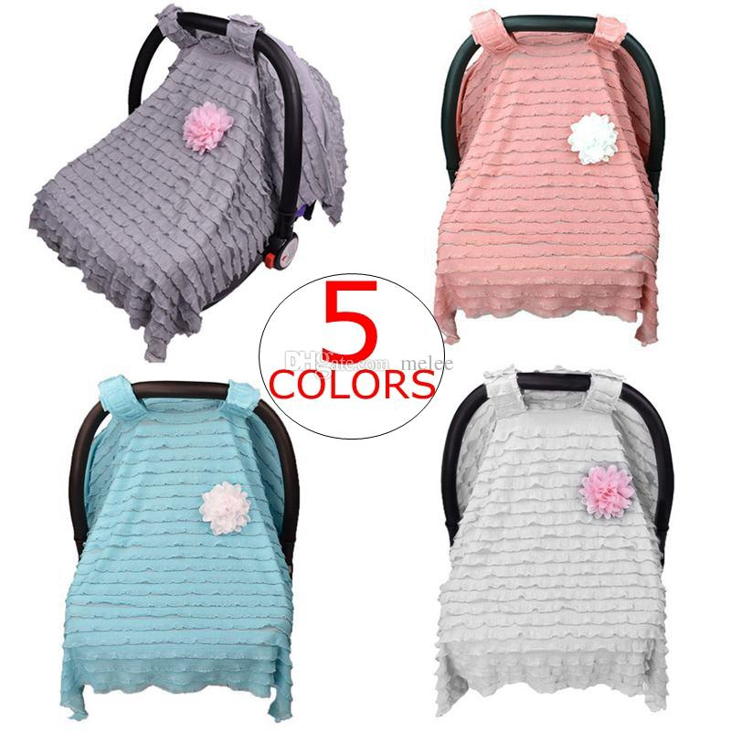 2020 Ins Lace Ruffle Baby Car Seat Canopy Infant Car Seat With
