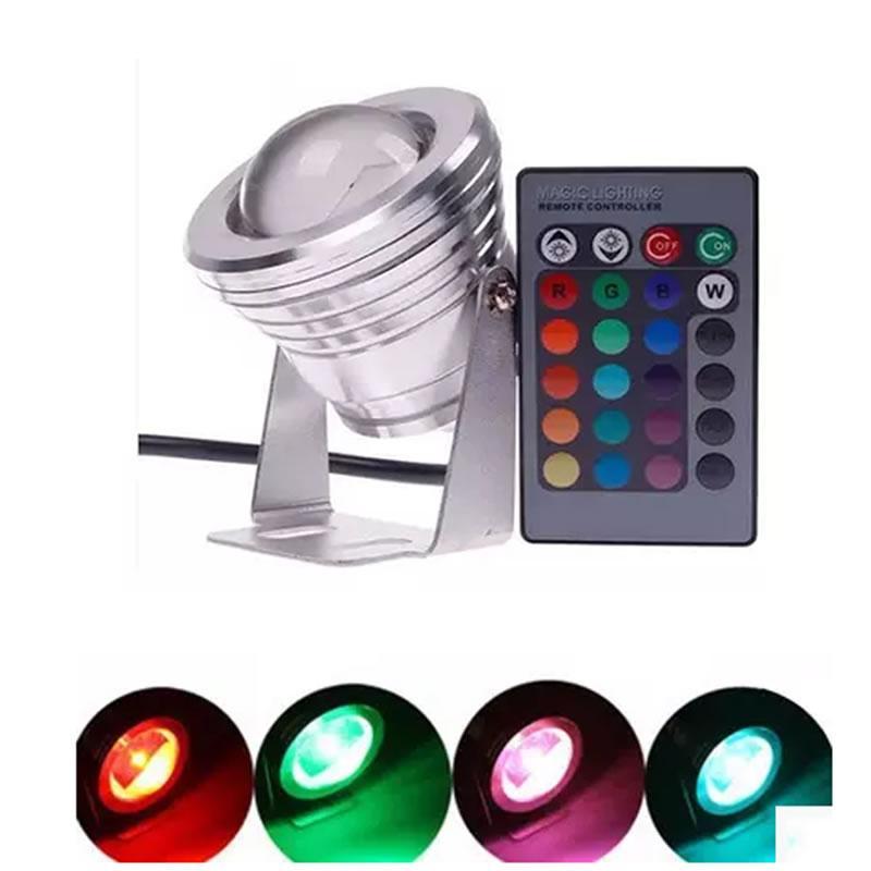 قاد SPLEVISI Dimmer RGB 10W 12V بقعة بقعة مسيك IP65 بقعة يقود مصباح بصيلة خفيف للإضاءة داخليّ خارجيّ