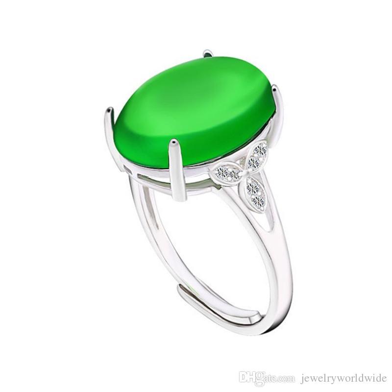 Impostazioni per anello semi montante per grande pietra ovale con tre foglie laterali CZ Solid 925 sterling silver gioielli da sposa sposa damigella d'onore regali