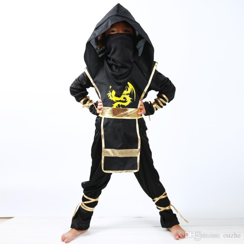 Japanese style Kids Ninja Costumes Halloween Party Boys Girls Warrior Stealth Children Cosplay Assassin Costume Children's Day Gifts 325