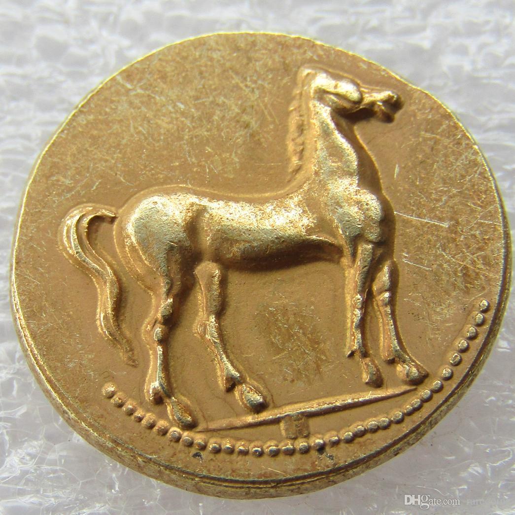 CARTHAGE Zeugitania Electrum Stater 310BC Tanit Horse Ancient Greek Coin