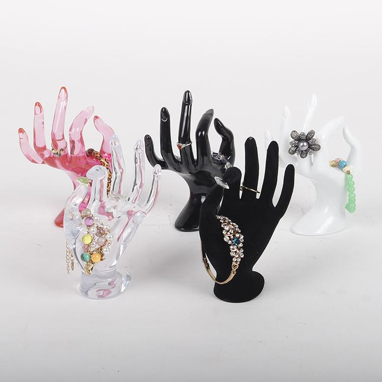 TONVIC Wholesale Plastic OK Hand Form For Bracelet Ring Display Stand Holder Mannequin For Jewelry Display