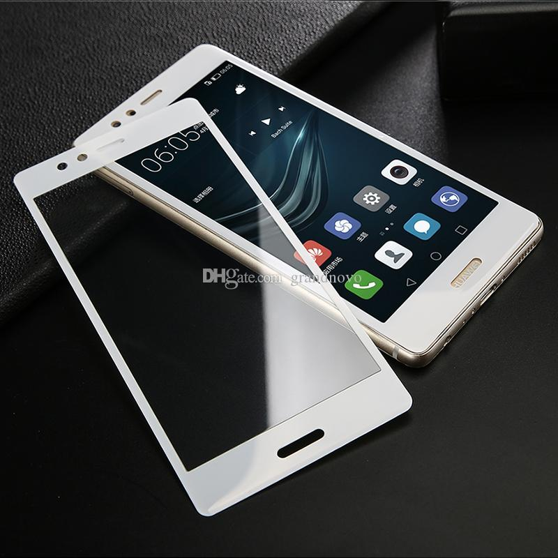 Karbon Fiber 3D Temperli Cam Tam Kapak Ekran Koruyucu Için Huawei P20 Pro P10 Lite Nova 3 3e 2 S Artı Mate 10 Y6 Y7 Y9 Onur V10 P SMART