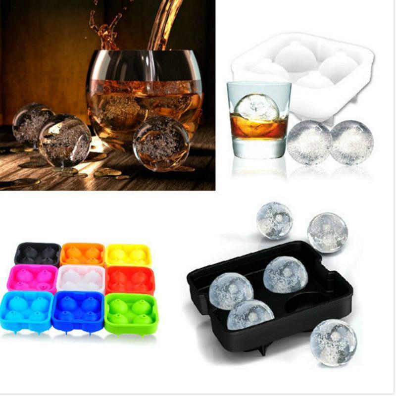 Ice Cream Maker Ice cream balls making molds Bar Drink Whiskey Sphere Big Round Ball Ice Brick Cube Maker Tray Mold