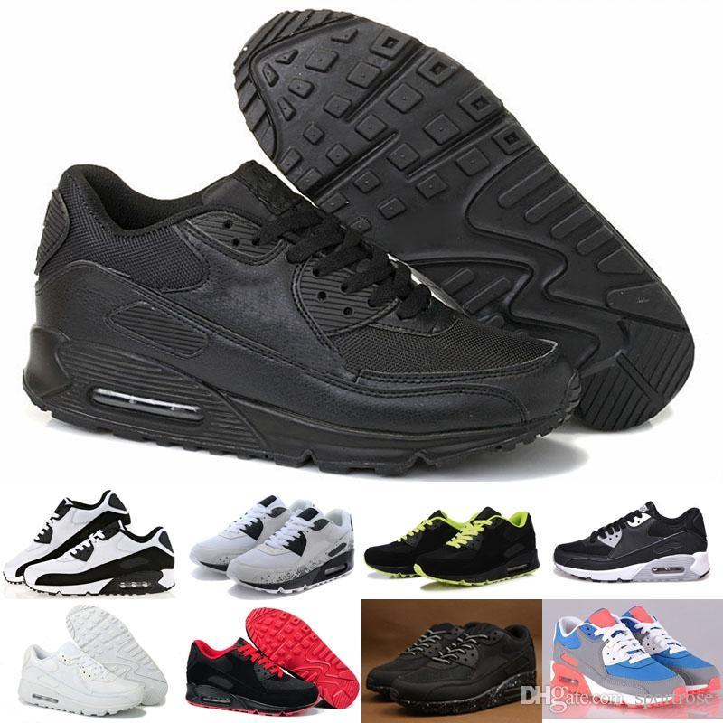 Mens Womens Shoes classic 90 Männer und Frauen Laufschuhe Schwarz ReWhite Sports Trainer Luftpolster Surface Breathable Sportschuhe US 5.5-11 Nike Air Max AIRMAX