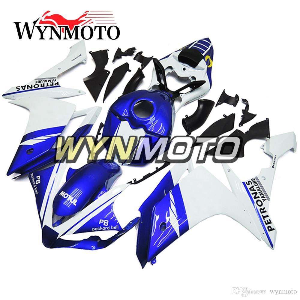 Carenados completos de la carrocería blanca pura de la motocicleta para Yamaha YZF1000 R1 YZF 1000 2007 2008 kits de la careta del ABS Kits del cuerpo moto