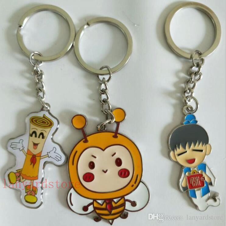 Cute Cartoon pony honeybee Animal Metal Key Chain Key Holder Handbag Pendant Ornament