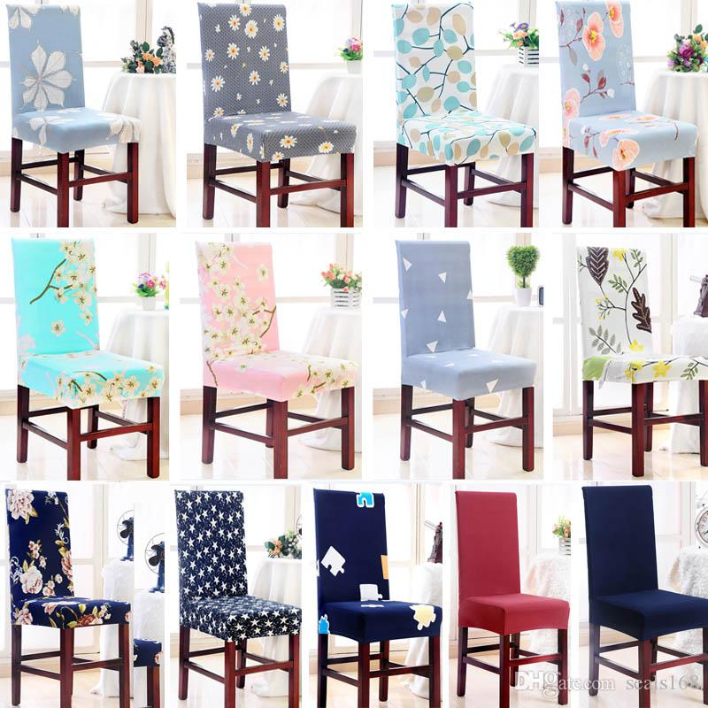 26 STyles Chair Cover Removable Washable Stretch Slipcovers Dining Room Chair Seat Cover Protector Seat For Banquet Wedding Party HH7-1214