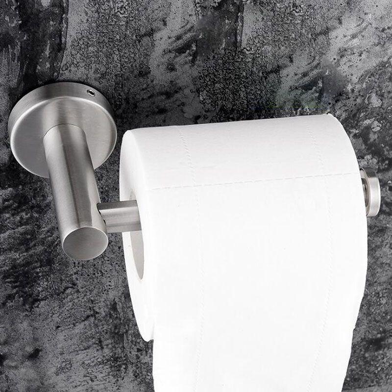 Stainless Steel Paper Holder Kitchen Hanger Tissue Roll Towel Rack Toilet Bathroom Accessories Hanging Organizer Storage Holder