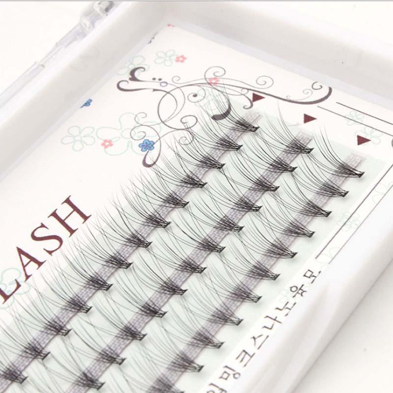 10pcs/Lot 9-12mm 3D Volume 0.07 C Individual Eyelash Extension 60 Knots Natural Eyelash Extension Individual Lash