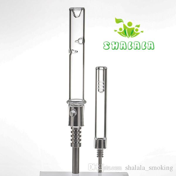 Mini Nectar Collector Kit Glasrohr Tipps Mit Titan Nagel 10mm 14mm Männlichen Joint Wasser Bongs Wachs Öl Rigs