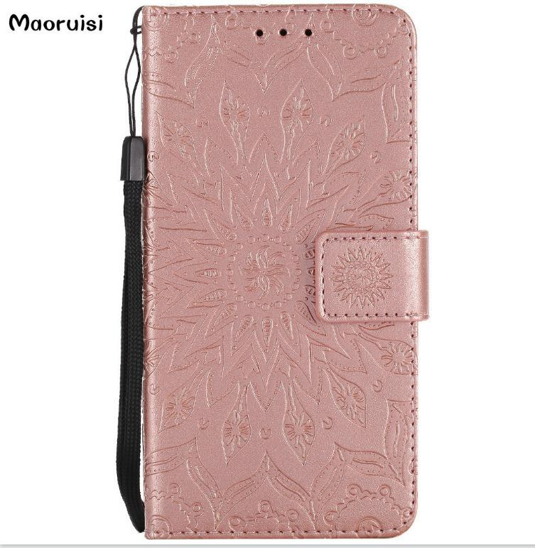 Flip Leather Cases For Fundas Apple iphone X SE 5 5s 6/6s 7 8 plus 7plus Coque Mandala Flower Wallet Cover Stand Phone Cases