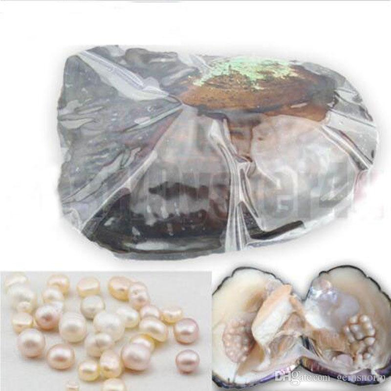 Natural Freshwater Cultivated Pearl Oyster Each Oyster with 5-10mm Oval Pearl