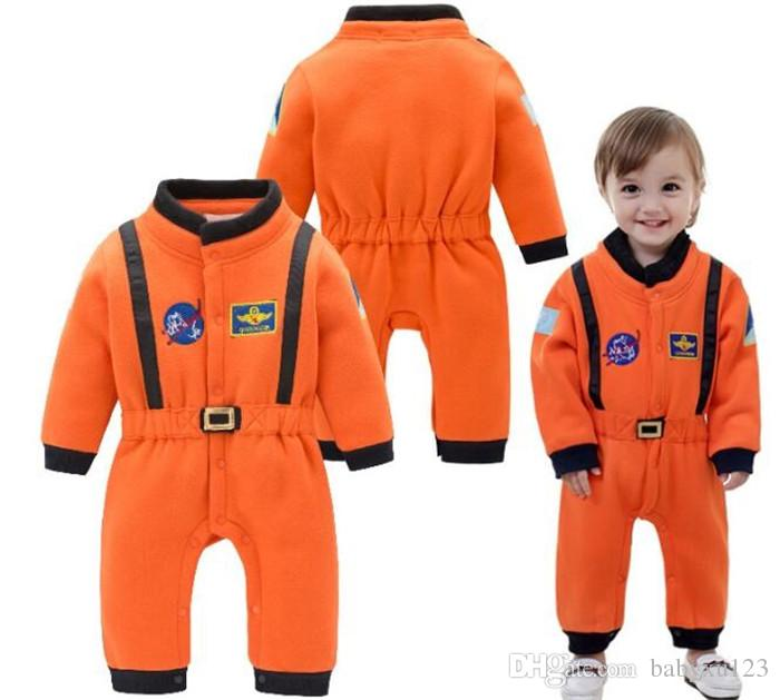 10set Baby boys nasa astronaut costumes infant halloween Romper for toddler boys kids space suit jumpsuit children cloth Y277
