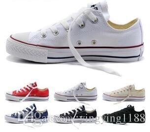 Novo tamanho35-45 Novo Unisex Low-top High-top Adult Feminino Sapatos de lona dos homens 15 cores Laced up casual sapatos sapatos sapatos