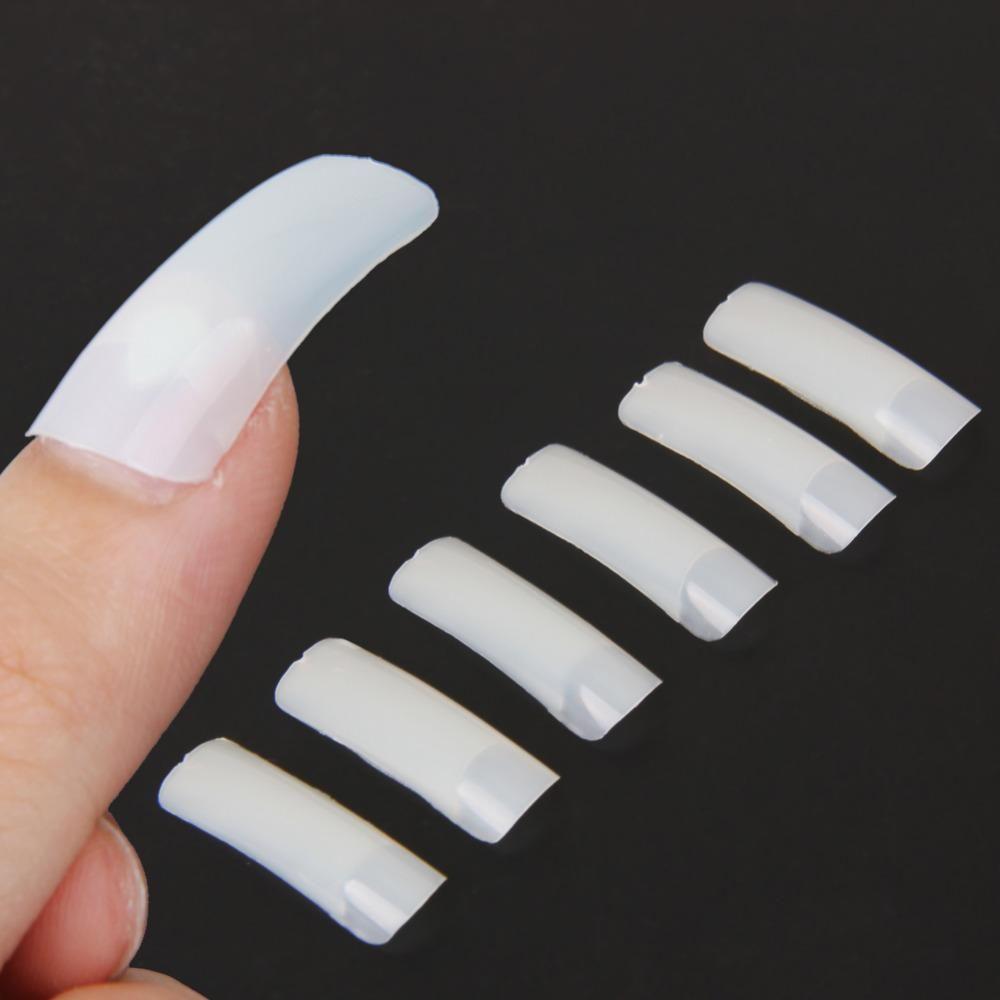 500 Pcs/Set Hot Selling Nude White False Nail Art Design Tips French Acrylic Polish UV Gel Sticker Salon Design Manicure Tools