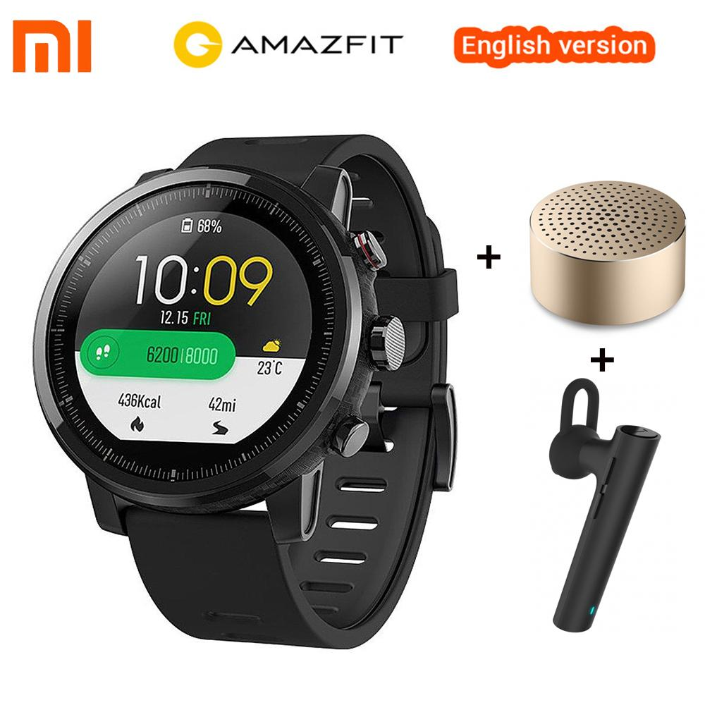 bajo costo b0371 38920 English Version Xiaomi Amazfit Stratos 2 Huami Amazfit Pace 2 Smart Watch  GPS 5ATM Waterproof Smartwatch For Xiaomi Android Stylish Smartwatch The ...