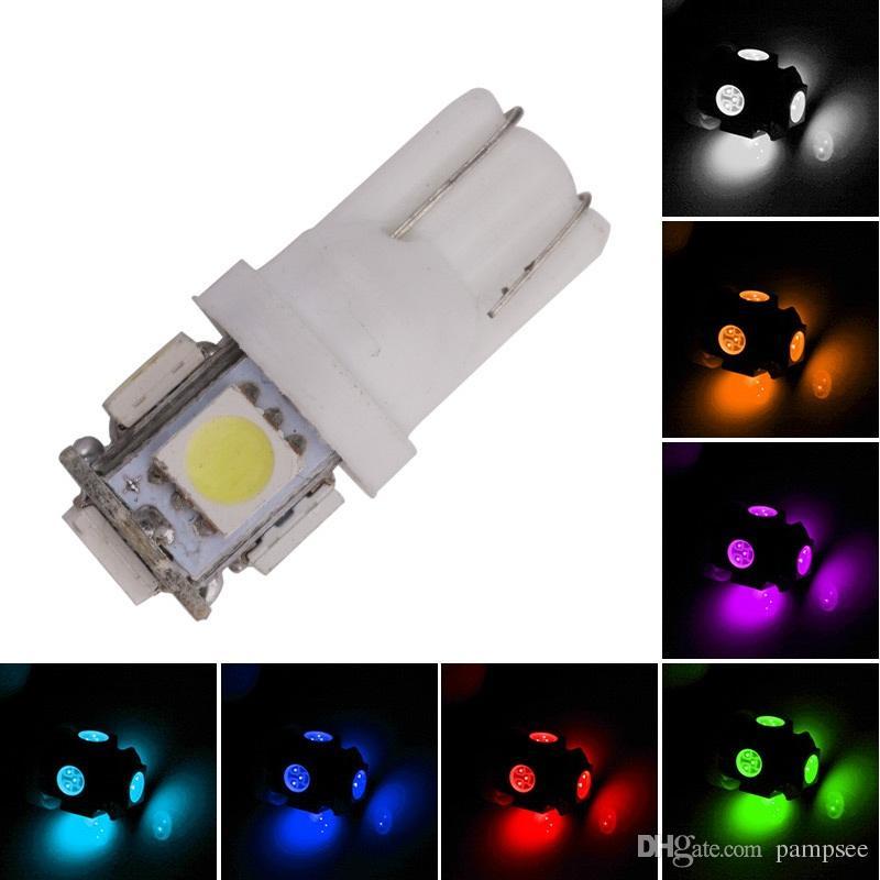 Estilo de automóvil Auto T10 5 LED 5050 W5W Cuña Puerta Luz de bombilla de estacionamiento Coche 5W5 LED Cúpula Adorno C5W C10W Luz de placa de matrícula