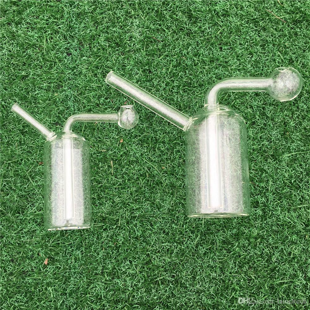 Universal Style Mini Hookah Filter Tubos de agua de vidrio transparente que fuman Accesorios Buques Pyrex Glass Bong de la fábrica de China