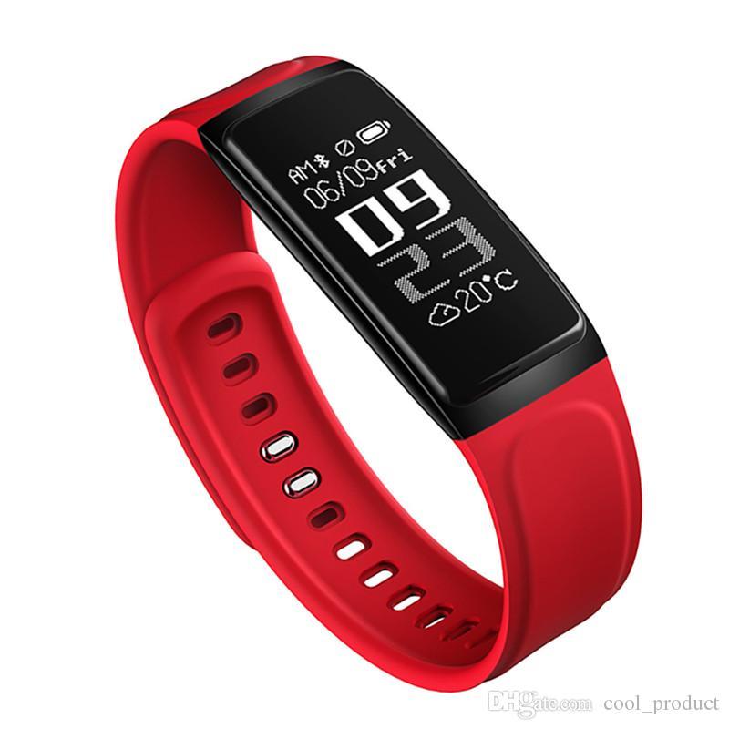 Smart bracelet Fitness Tracker sang pression moniteur de fréquence cardiaque intelligent Montre Ecran LCD intelligent pour iPhone Android Wristwatch
