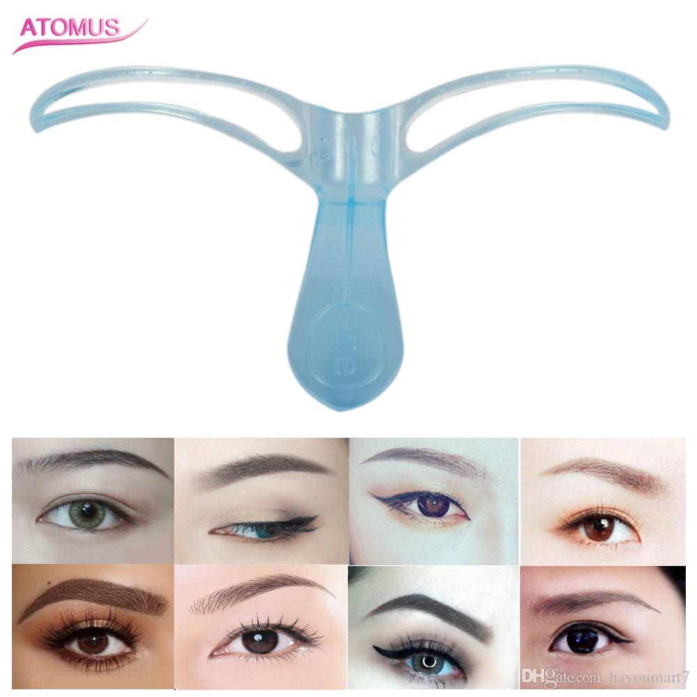 Stereo Thrush Auxiliary Device Eyebrow Grooming Stencil Kit Template Makeup Shaping Shaper Plastic Makeup Eye Brow Styling Diy Tool