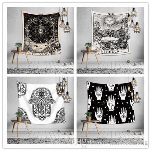 16 Tasarımlar Goblen Euramerican Kovina Astroloji Baskı Duvar Asılı Yatak Odası Dekorasyon Masa Örtüsü Yoga Mat Plaj Havlusu Parti Backdrop