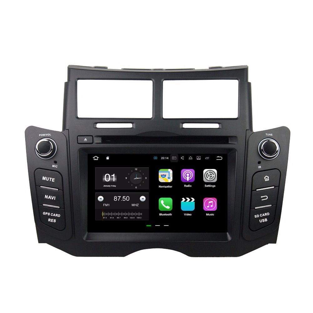 """أندرويد 7.1 رباعي النواة 6.2 """"سيارة دي في دي راديو السيارة دي في دي GPS رئيس وحدة الوسائط المتعددة لتويوتا ياريس 2005-2011 مع بلوتوث واي فاي USB مرآة رابط"""