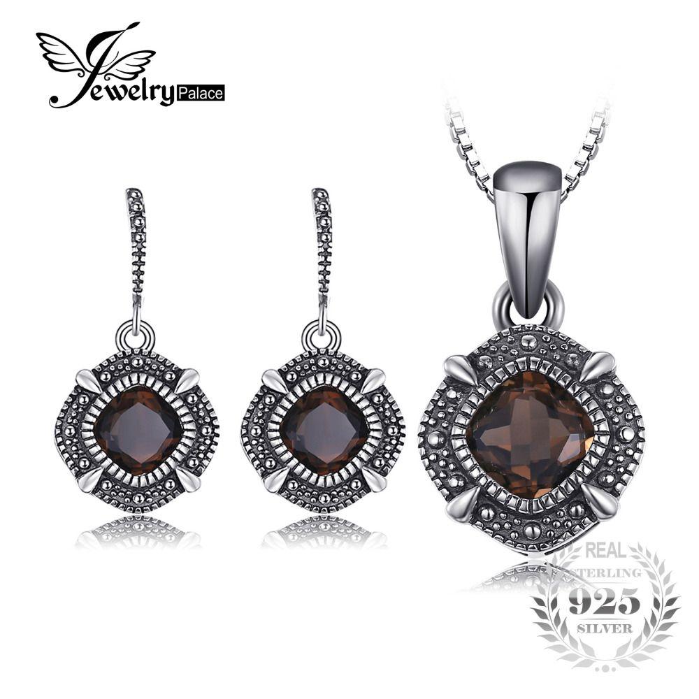 Best Designer Jewelry Sterling Silver Rhodium-plated Smoky Quartz Pendant