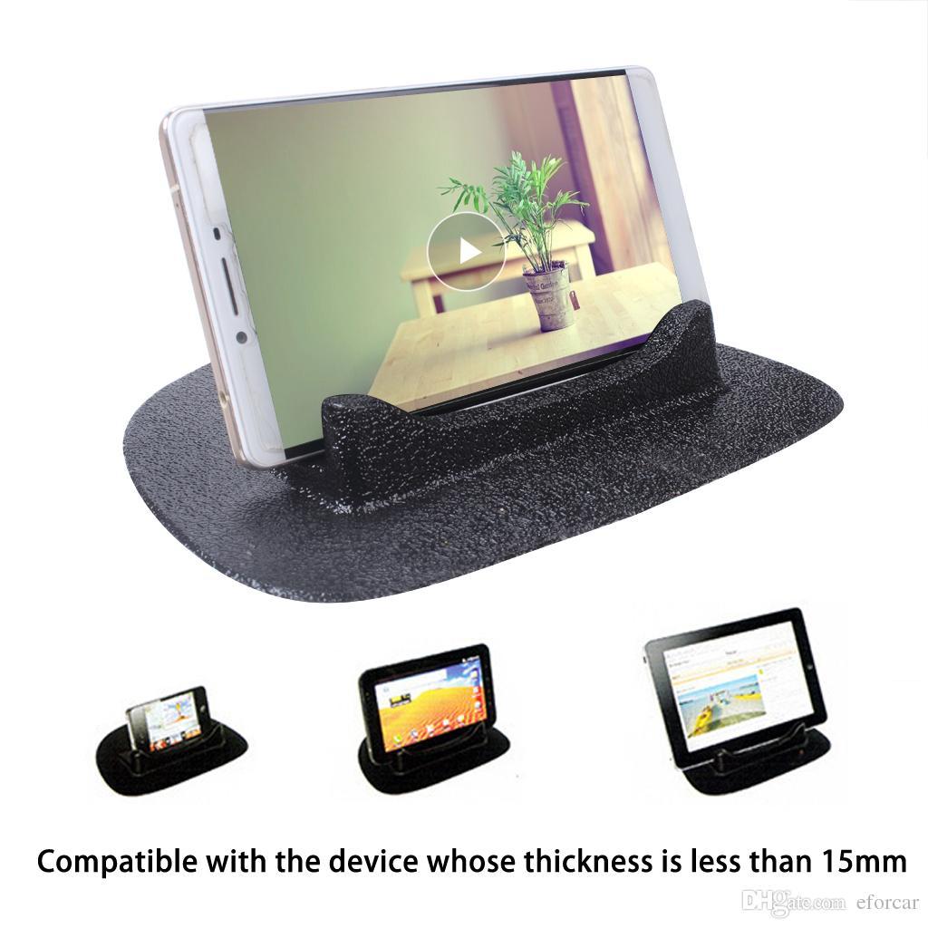 Черный силиконовые противоскользящие коврики для автомобиля автомобиля телефон GPS держатель стенд нескользящий коврик Бесплатная доставка через экспресс