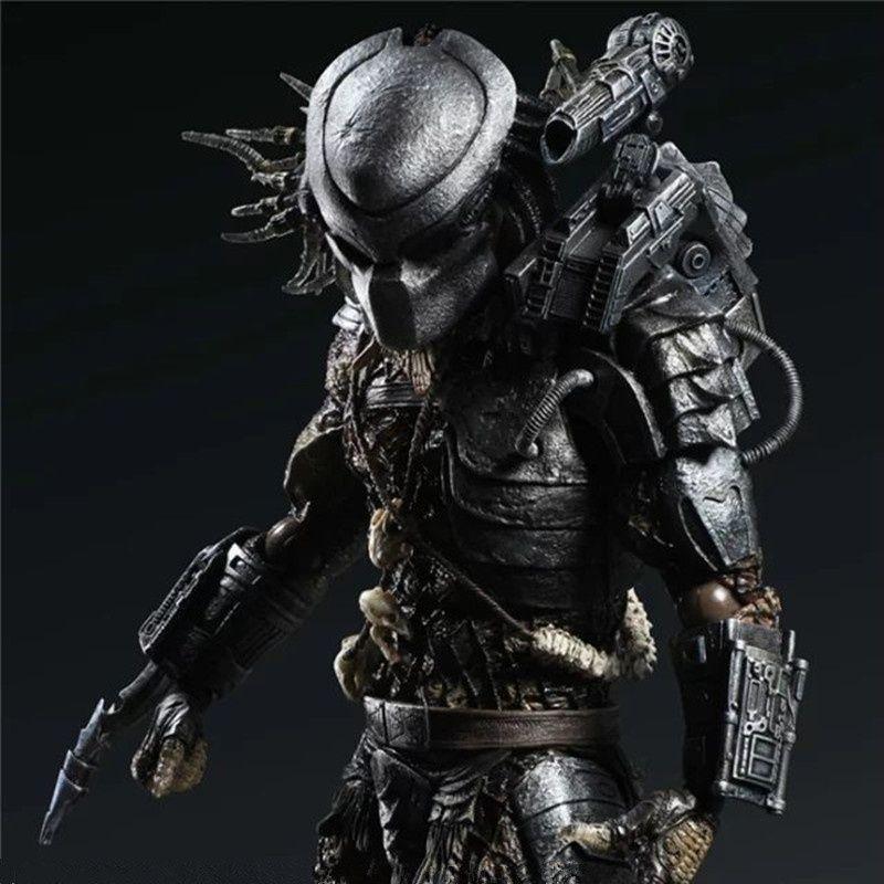 Play Arts Kai Alien Vs Predator The Predator Warrior Action Figure 28CM