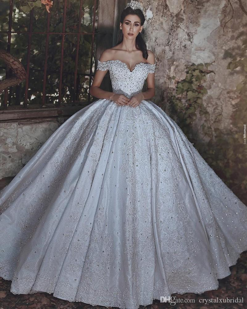 2018 New Ball Gown Wedding Dresses Off Shoulder
