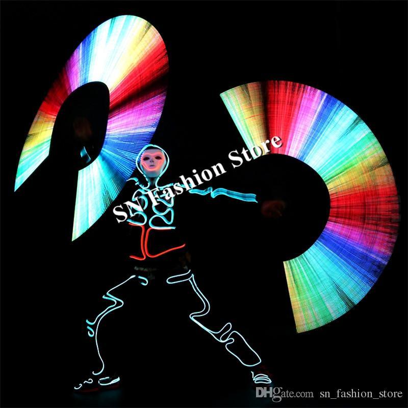 LED POI80+ Image size 80*240 sticks 58cm length 80 pixels shinning Nunchakus bar club performance ballroom dancing costumes dj catwalk cloth