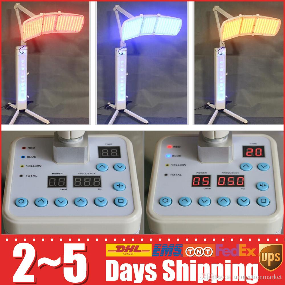 Stand Pdt Led Photon Rejuvenation Anti-Aging Akne Haut Gesichts Schönheit Lampe Rot Blau Gelb Photon Pdt Therapie