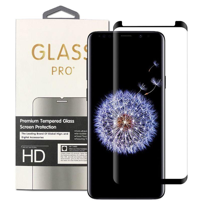 Per Samsung Galaxy Nota 9 S9 S8 3D Curved Glass Scherm Protector Pellicola Protector Friendly Per Nota 8 S7 Edge con vendita al dettaglio