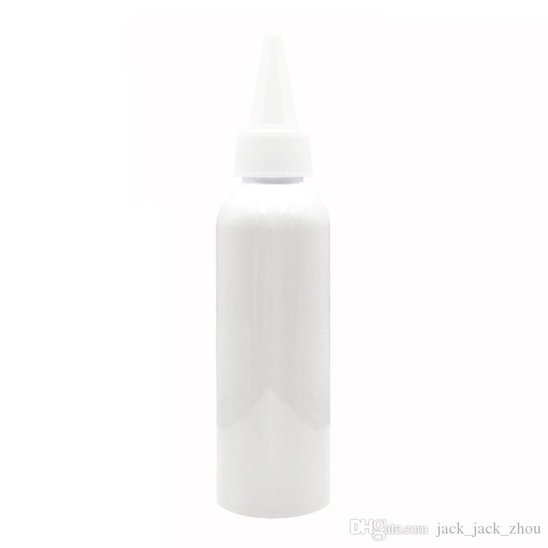 50pcs/lot 100ml 150ml 200ml 250ml empty white plastic bottle containers,250cc PET bottle with pointed mouth caps for skin care cream,shampoo