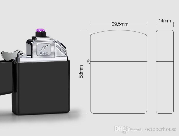 anti-vent sans flamme Pantheraa Briquet arc plasma USB allume-cigare /électrique 2-en-1 rechargeable