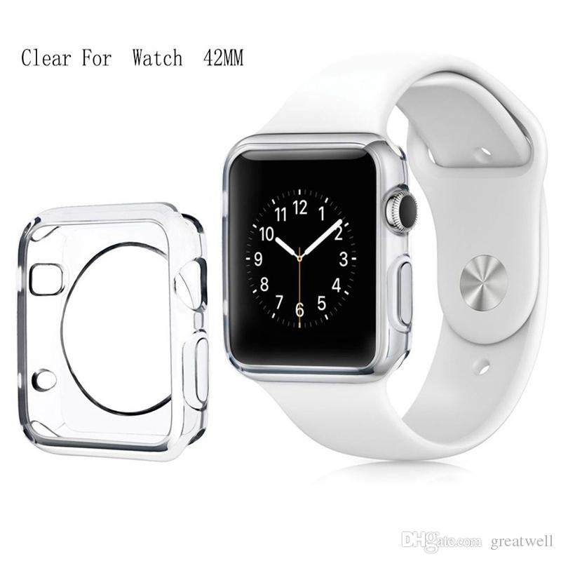 Proteggi schermo 3D Touch Ultra Clear Soft TPU Cover per Apple Watch 4 3 2 38mm / 42mm / 40mm / 44mm per Apple Watch 4 Custodie