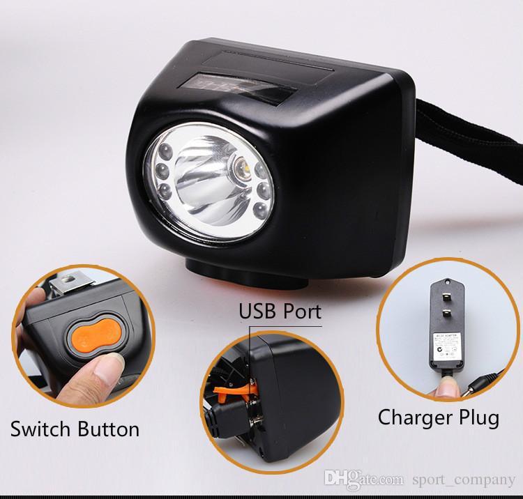 KL4.5LM 3W LED Miner-Sicherheitsscheinwerfer Li-Ion-Akku LCD-Digitalanzeige-Kappenlampe leuchtet explosionssicher Bergbau-Scheinwerfer