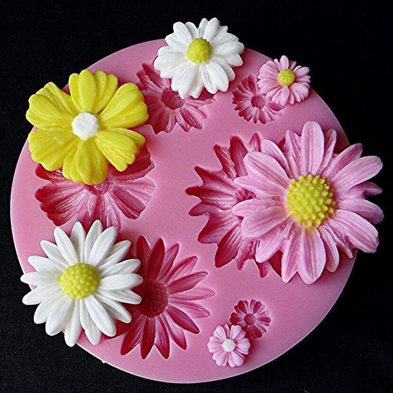 3D Flower Fondant Cake Making Tools DIY Silicone Sugar craft Baking Tool HGUK